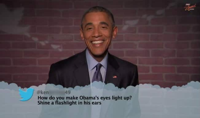 Barack Obama reads out mean tweets on him on Jimmy Kimmel Live (Watch video)