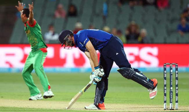Jos Buttler OUT! Bangladesh vs England ICC Cricket World Cup 2015 – Watch Full Video Highlights of Fall of Wicket