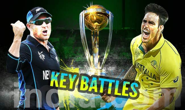 Australia vs New Zealand, ICC Cricket World Cup 2015 final: Brendon McCullum, Mitchell Johnson go head-to-head in 3 key battles of AUS vs NZ