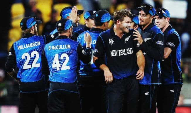 NZ beat WI by 143 runs; face SA in semis| Live Cricket Score New Zealand vs West Indies Ball by Ball Updates, ICC Cricket World Cup 2015 4th QF Match