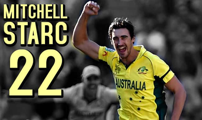 2015 Cricket World Cup Leading Wicket-Takers: Mitchell Starc becomes No 1 in the list of top-10 bowlers in WC 2015