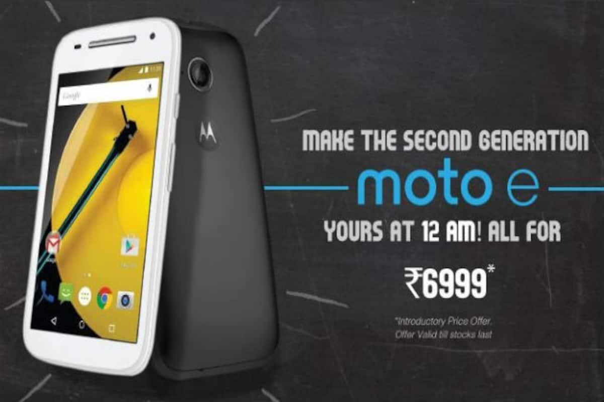 Moto E 2nd Gen launched in India at Rs 6,999