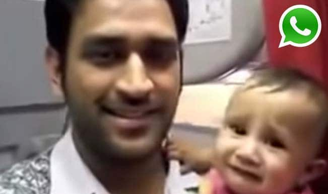 Is MS Dhoni's newborn daughter Ziva's photos & videos on WhatsApp and YouTube Real or Fake?