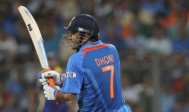 MS Dhoni's World Cup winning bat on display ahead of India vs Australia semi-final clash