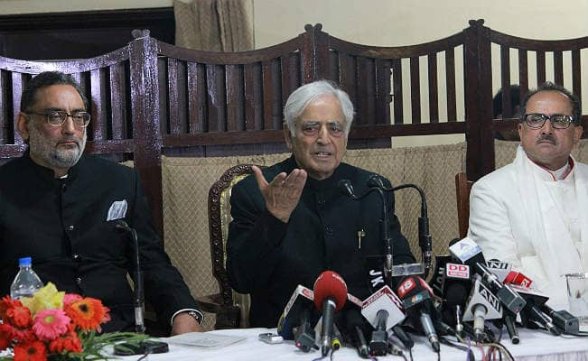 Jammu and Kashmir Chief Minister Mufti Mohammad Sayeed says, 'No option other than talks with Pakistan'
