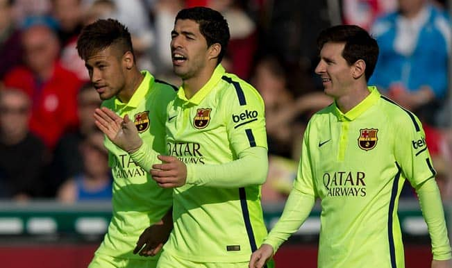 La Liga 2014-15: Alberto Bueno steals headlines with four-goal haul for Rayo Vallecano as Barcelona beat Granada 3-1