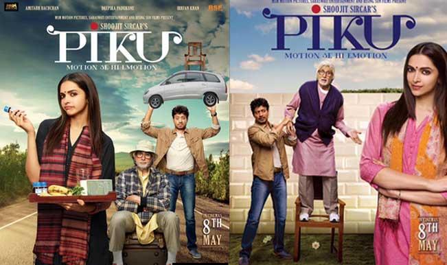 Piku posters revealed! Amitabh Bachchan, Deepika Padukone, Irrfan ...