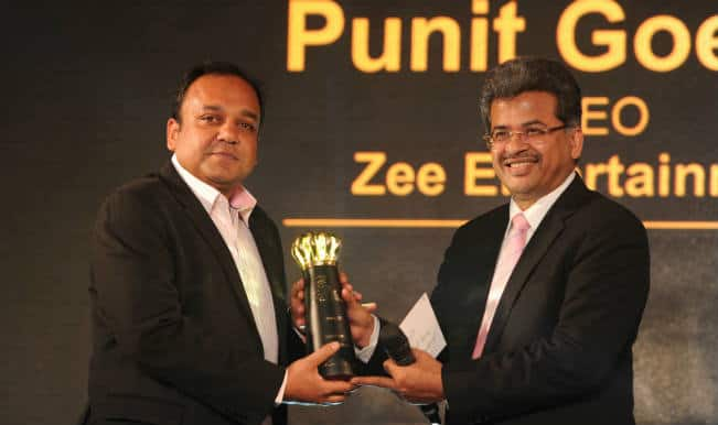 Punit Goenka, ZEEL MD & CEO, receives the 'Young CEO Award'
