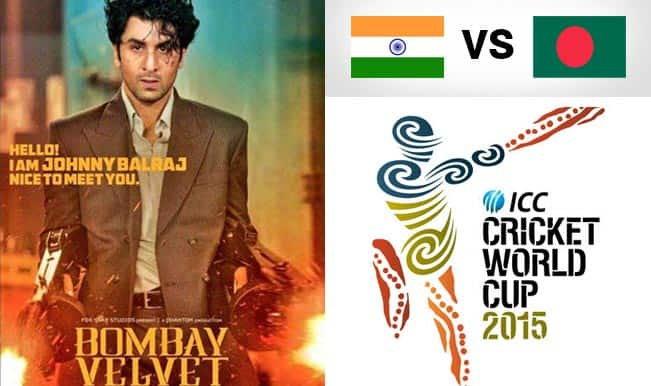 Ranbir Kapoor to release Bombay Velvet trailer during India vs Bangladesh 2015 Cricket World Cup match!
