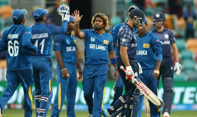SL win by 148 runs | Live Cricket Score Sri Lanka vs Scotland Ball by Ball Updates, ICC Cricket World Cup 2015 Match 35: SCO all out for 215