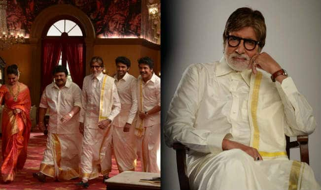 Amitabh Bachchan poses in lungi with South Indian stars for a jewellery ad