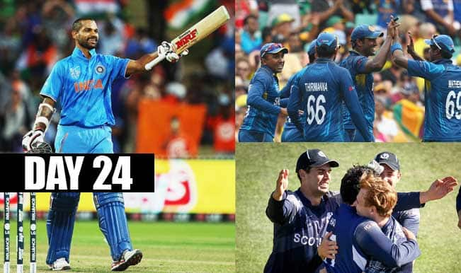 2015 Cricket World Cup Day 24: Highlights, Points Table and Schedule for upcoming matches of WC 2015