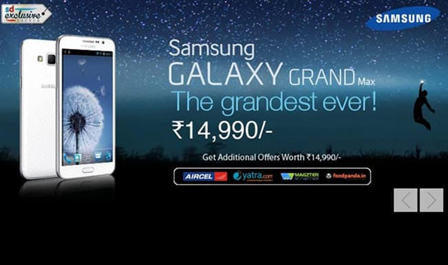 Samsung Galaxy Grand Max available exclusively on Snapdeal at Rs 14,990 (Watch unboxing video)