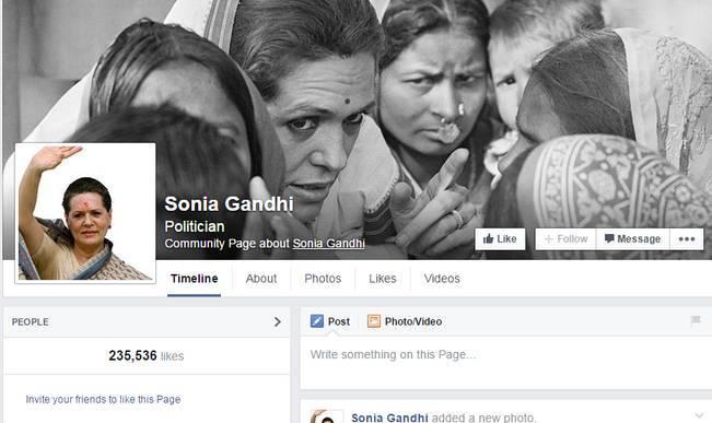 Congress March for Manmohan Singh: Sonia Gandhi's Facebook Wall