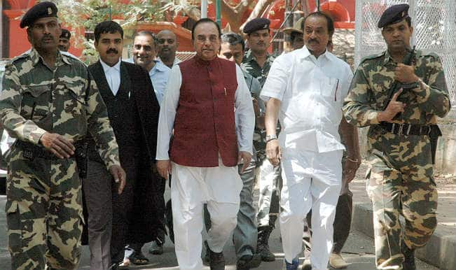 Senior BJP leader Subramanian Swamy meets Finance Minister Arun Jaitley to press for Jat quota
