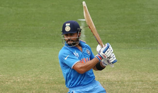 Virat Kohli OUT! India 78/2 in 15.3 against Australia in ICC Cricket World Cup 2015