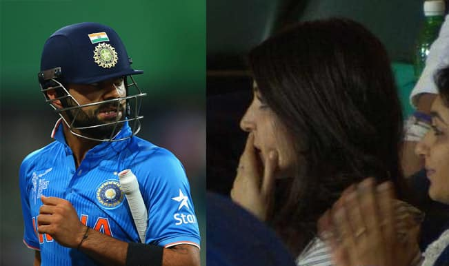 Live & Breaking: Virat Kohli leaves Anushka Sharma heartbroken with bad performance in IND vs AUS Cricket World Cup 2015 SF Match!