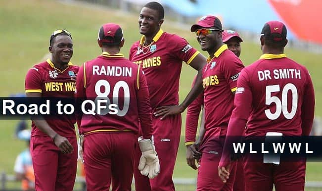 Team West Indies Performance & Form Guide: WI's road to Quarter Finals in ICC Cricket World Cup 2015