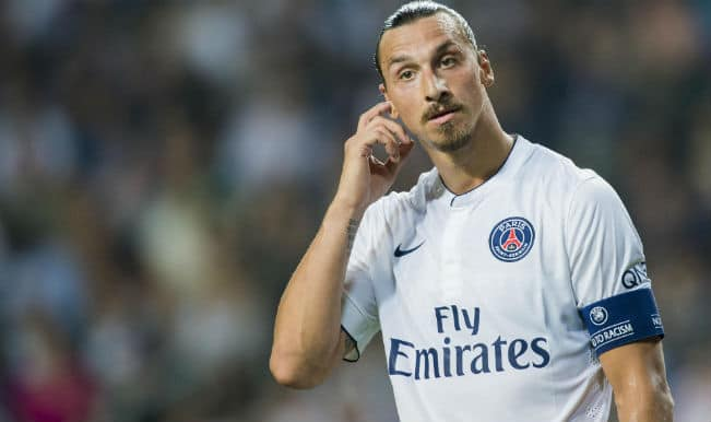 Zlatan Ibrahimovic's hat-trick fires PSG to top of French Ligue 1