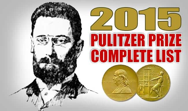 Pulitzer Prize Winners 2015: Complete list of the 21 awardees!