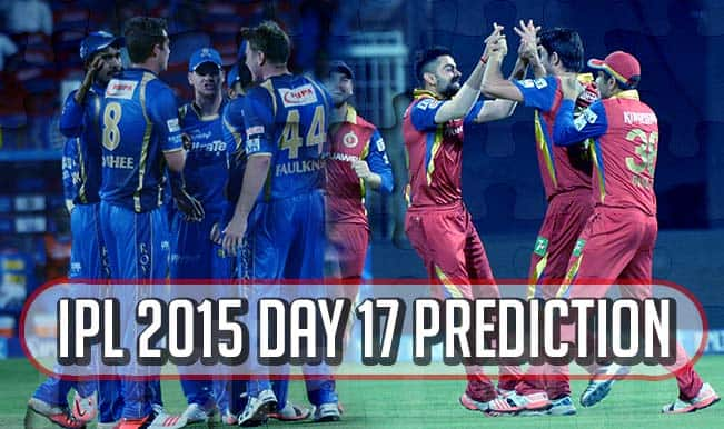 IPL 2015 Day 17: Today's Prediction, Current Points Table and Schedule for upcoming matches of IPL 8