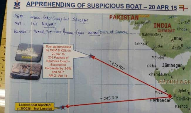Boat with 8 Pakistan crew carrying 232 kg drugs seized off Gujarat coast