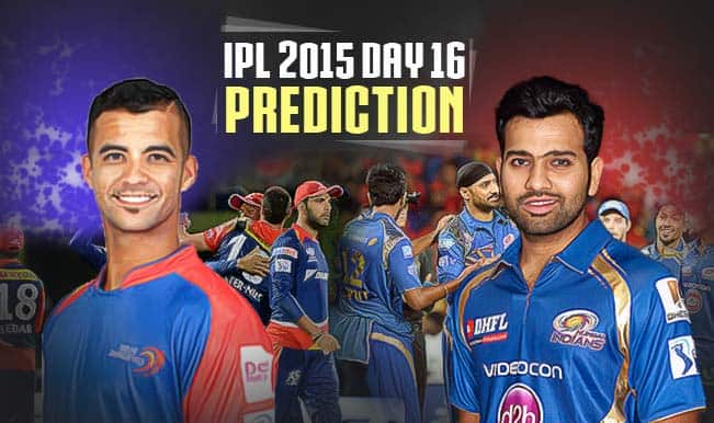 IPL 2015 Day 16: Today's Prediction, Current Points Table and Schedule for upcoming matches of IPL 8