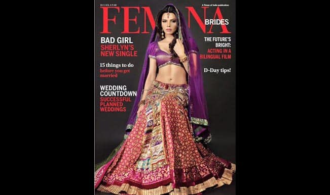 Is Sherlyn Chopra getting married? Sexy babe shines on Femina's bridal edition