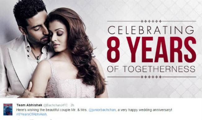 Aishwarya Rai Bachchan and Abhishek Bachchan 8th wedding anniversary: Watch special video!
