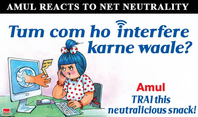 Amul's take on Net Neutrality. Image Courtesy: India.com
