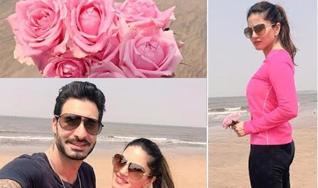 OMG! Sunny Leone spotted with husband Daniel Weber at Mumbai's Juhu beach!