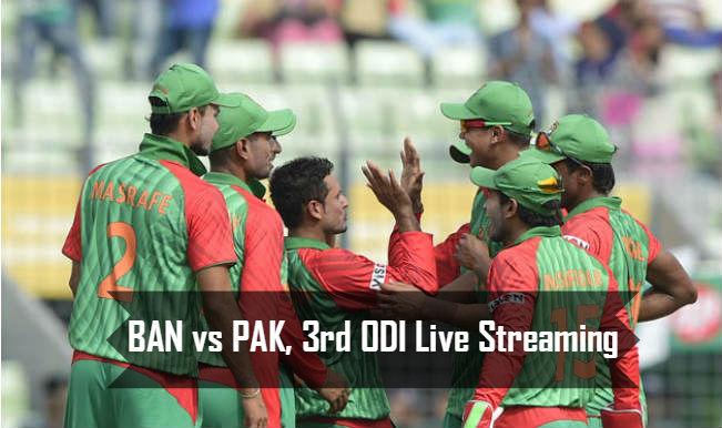 Bangladesh vs Pakistan 3rd ODI 2015: Watch Free Live Streaming of PAK vs BAN on Gazi TV & PTV Sports