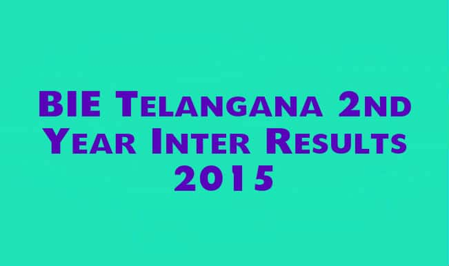 BIE Telangana 2nd Year Inter Results 2015: Check TS Inter Results at Bie.telangana.gov.in