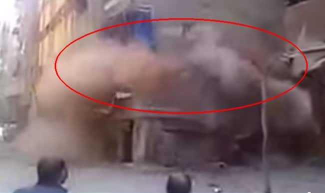Nepal Earthquake 2015 Video: Shocking footage of building collapse