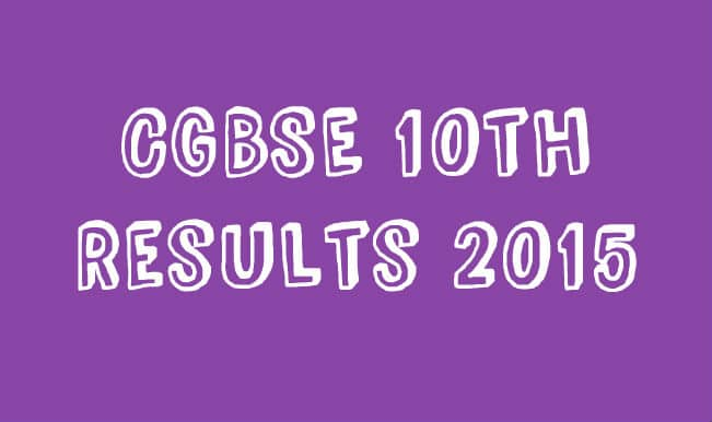 cgbse.net & cgbse.nic.in Official Class 10 CGBSE Result 2015 Website: Chhattisgarh Class 10 Matric exam results to be declared at 11 AM