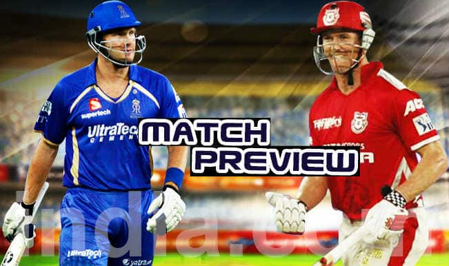 Kings XI Punjab vs Rajasthan Royals IPL 2015 Match 3 Preview: Power-packed KXIP face formidable RR