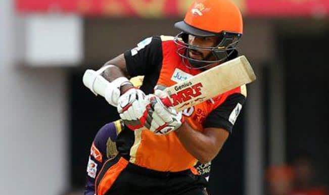 Sunrisers Hyderabad set target of 178 runs against Kolkata Knight Riders in Match 19 of Indian Premier League 2015