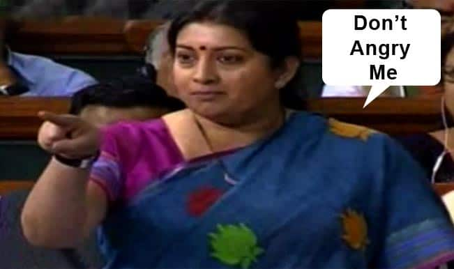 Smriti Irani roars in Parliament: Watch fiery speech of Indian HRD Minister & her fight with Sugata Bose