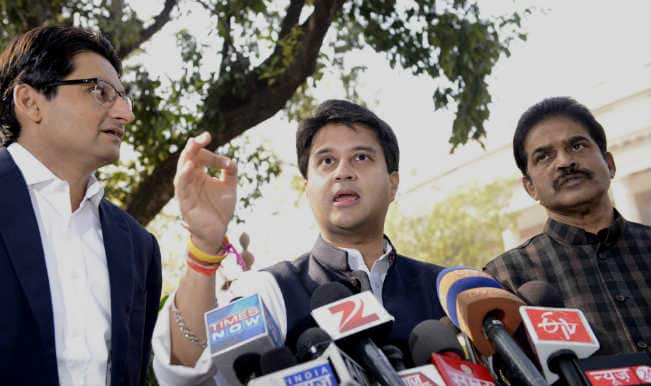 Congress to strongly oppose 'anti-poor, anti-farmer' policy: Jyotiraditya Scindia