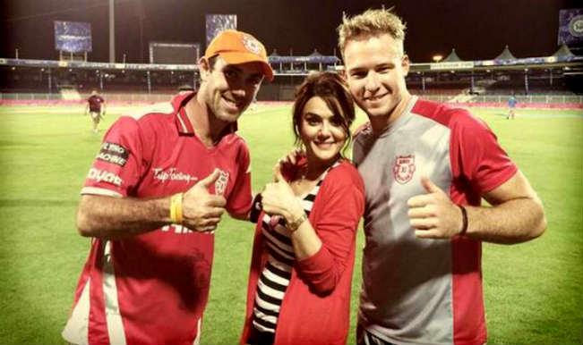 Manforce Condom ad on Preity Zinta's Kings XI Punjab Team's Jersey makes Glenn Maxwell & Co. go shy!