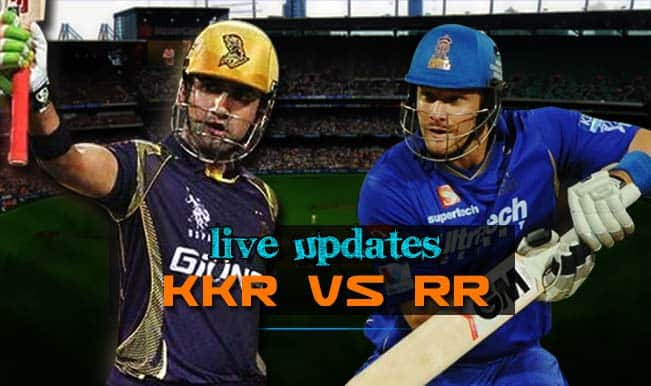 KKR vs RR match abandoned, RR tops points table | Live Cricket Score Updates Kolkata Knight Riders vs Rajasthan Royals, IPL 2015