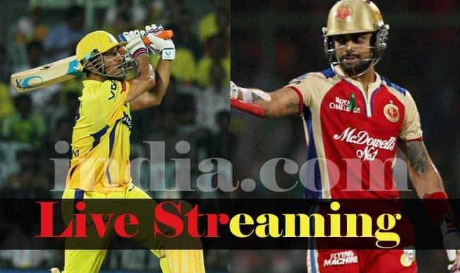 Royal Challengers Bangalore vs Chennai Super Kings, IPL 2015: Watch Free Live Streaming and Telecast of RCB vs CSK on Star Sports Online