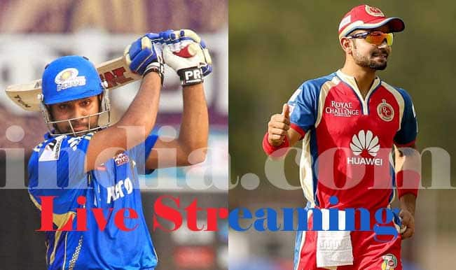 Royal Challengers Bangalore vs Mumbai Indians, IPL 2015: Watch Free Live Streaming and Telecast of RCB vs MI on Star Sports Online