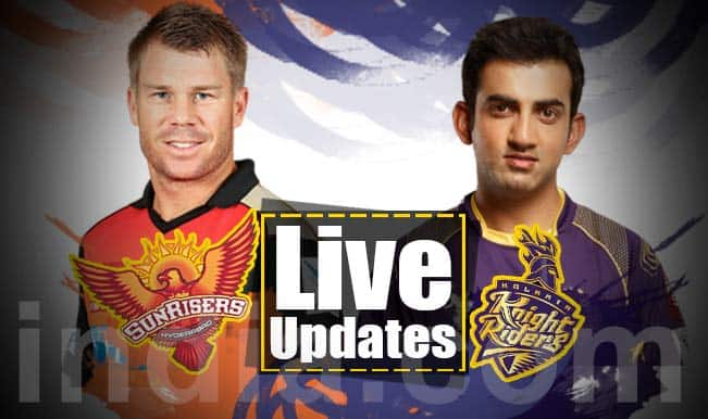 SRH win by 16 (D/L method) | Live Cricket Score Updates Sunrisers Hyderabad vs Kolkata Knight Riders, IPL 2015