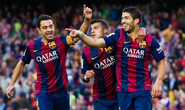 La Liga 2014-15: Lionel Messi & Luis Suarez net brace as Barcelona trash Getafe 6-0