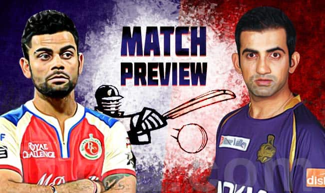 Kolkata Knight Riders vs Royal Challengers Bangalore IPL 2015 Match 5 Preview: KKR look to extend winning run against RCB