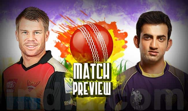 Sunrisers Hyderabad vs Kolkata Knight Riders IPL 2015 Match 19 Preview: SRH face on-song KKR