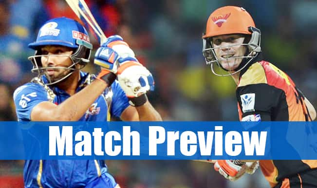 Mumbai Indians vs Sunrisers Hyderabad, IPL 2015 Match 23 Preview: Bottom-placed MI face SRH in a crucial tie