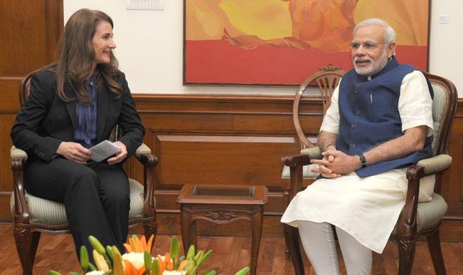 Melinda Gates meets and appreciates Narendra Modi's pro-poor initiatives