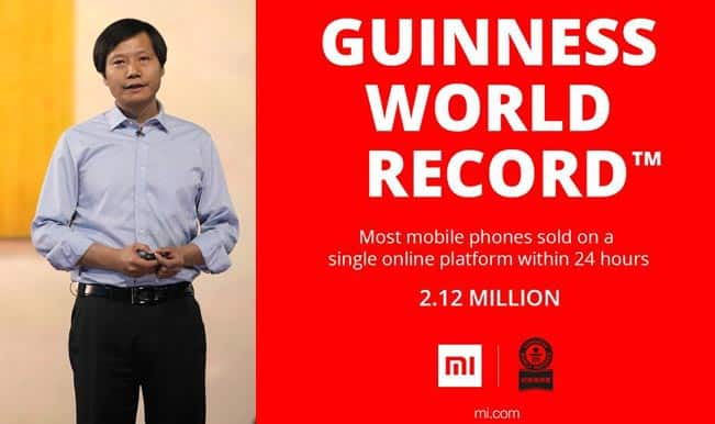 Xiaomi beats Alibaba's Guinness World Record for maximum phones sold online in a day